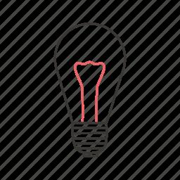 electric, energy, incandescent lamp, incandescent light bulb, lamp, light, lightning icon