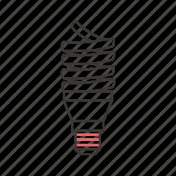 energy, fluorescent lamp, lamp, light, lightning, saving lamp icon