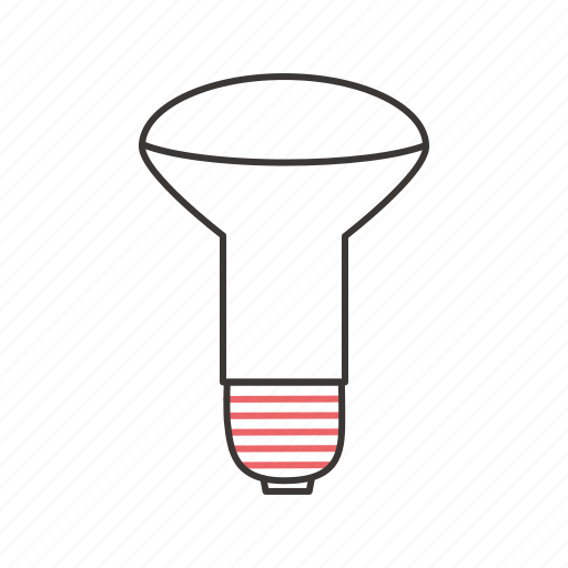 energy, incandescent lamp, lamp, lamp with reflector, light, lightning icon