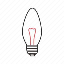 electric, incandescent lamp, incandescent light bulb, lamp, light, lightning icon