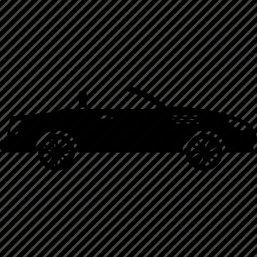 car, convertible, sport icon
