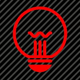 energy, idea, lamp, light, lighting icon