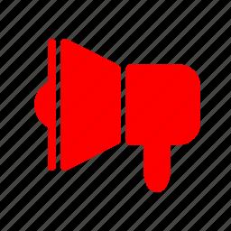 loud, megaphone, sound, speaker icon