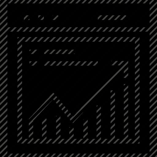 business progress, financial analytics, financial chart, graphical representation, web analytics icon