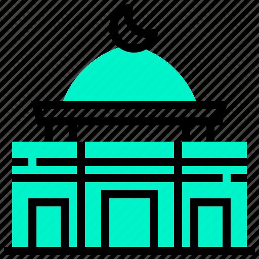 al, aqsa, building, landmark, mosque icon