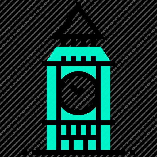 ben, big, building, landmark icon