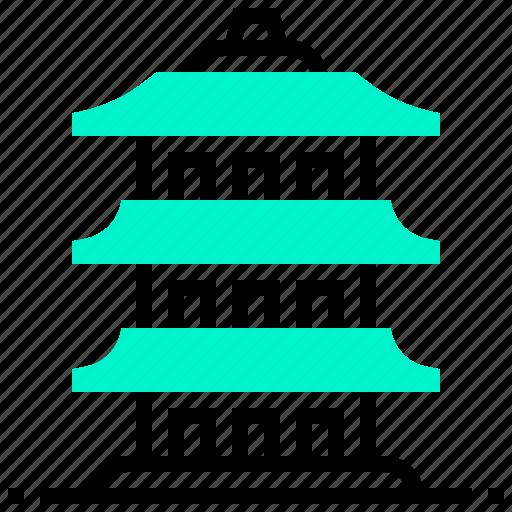 ancient, building, chinese, landmark, pagoda icon
