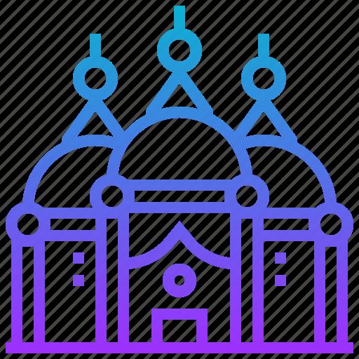 badshahi, building, landmark, mosque icon