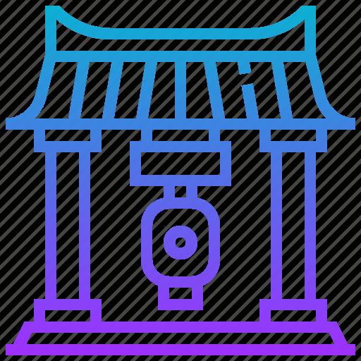 building, gate, kaminarimon, landmark icon