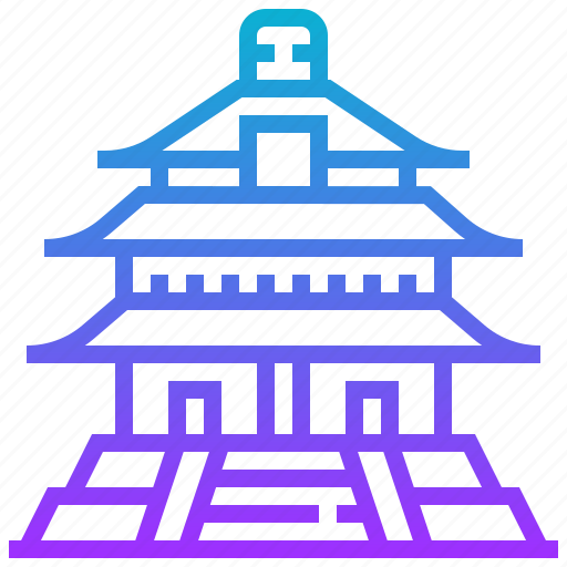 building, heaven, landmark, temple icon