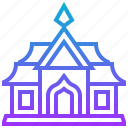 benchamabophit, building, landmark, thai, wat icon