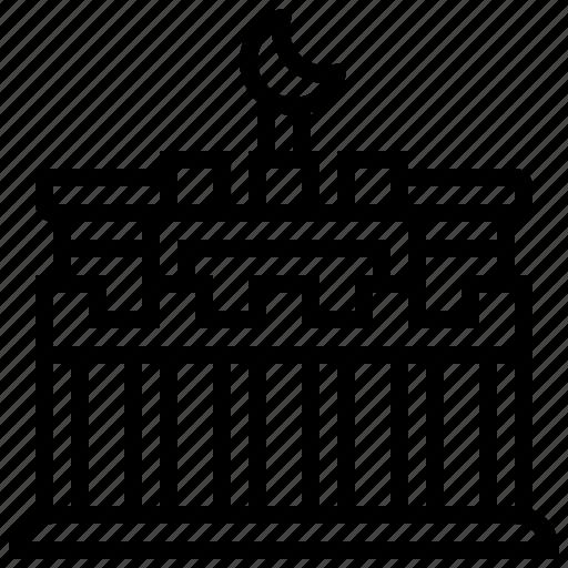 brandenburg, building, gate, landmark icon