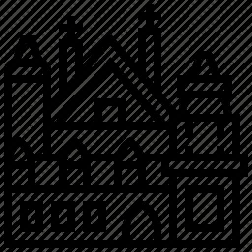 building, landmark, middelburg, stadhuis icon