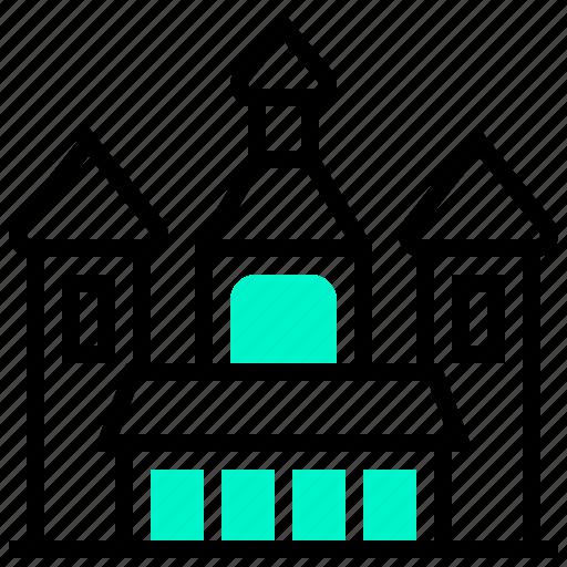 building, landmark, orthodox, timisoara icon