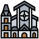 building, chist, church, landmark icon