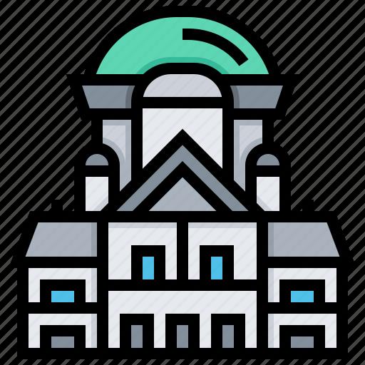 building, federal, landmark, palace, switzerland icon