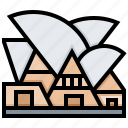 building, house, landmark, opera icon
