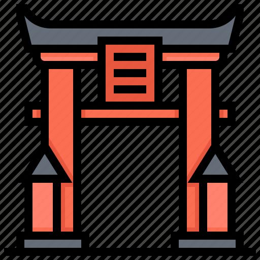 Building, gate, landmark, torii icon - Download on Iconfinder