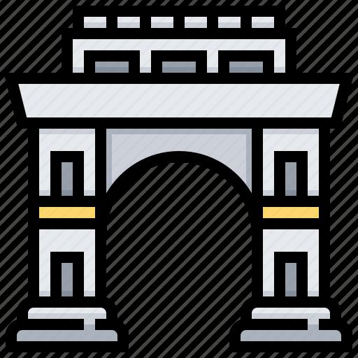 arch, building, landmark, triumphal icon