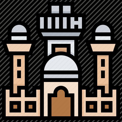 building, landmark, senegal, tuba icon