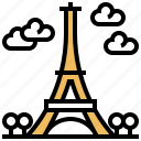 eiffel, iron, landmark, paris, tower