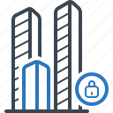 bulding, city, close, enterprise, office icon