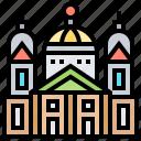 cathedral, helsinki, landmark, senate, square