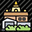 bangkok, buddhism, saket, temple, wat