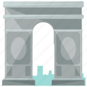 arc, de, europe, france, landmarks, triomphe icon