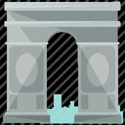 arc, de, europe, france, landmarks, triomphe icon