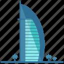 al, arab, arabia, burj, dubai, landmarks icon