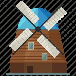 dutch, energy, holland, landmark, netherlands, windmill icon