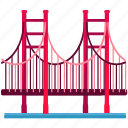 bridge, golden, san fransisco, landmarks, gate, america
