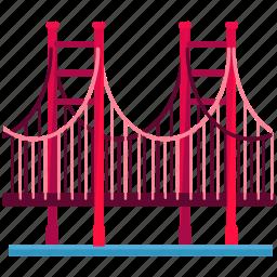 america, bridge, gate, golden, landmarks, san fransisco icon