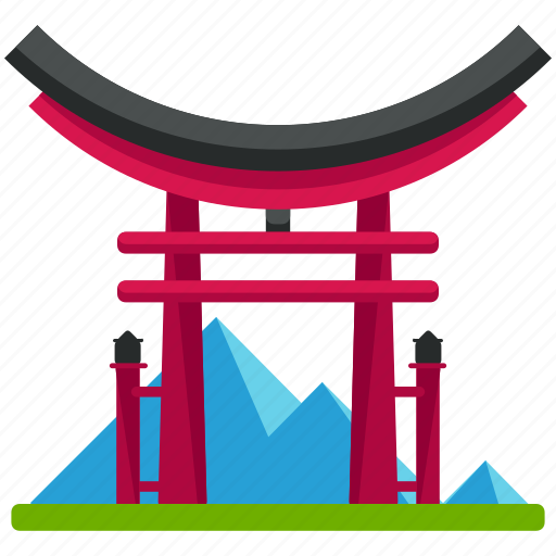 architecture, building, gate, japanese, landmarks icon