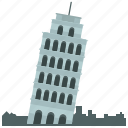 europe, landmark, leaning, pisa, tower