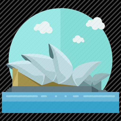 entertainment, hall, landmarks, music, opera, sydney icon
