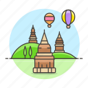 architecture, bagan, landmarks, mandalay, myanmar, national, symbol, temple icon