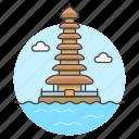 bali, bratan, danu, indonesia, landmarks, national, pagoda, pura, symbol, temple, ulun icon