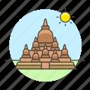 borobudur, candi, central, indonesia, java, landmarks, magelang, national, symbol, temple icon