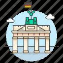 architecture, berlin, brandenburg, gate, germany, landmarks, monument, national, symbol icon
