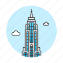 city, empire, landmarks, manhattan, national, new, skyscraper, state, symbol, york icon