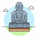 architecture, buddha, great, landmarks, national, statue, structure, symbol icon