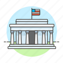 architecture, d, landmarks, lincoln, memorial, national, symbol, usa, washington icon
