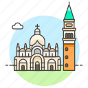 architecture, basilica, campanile, italy, landmarks, mark, national, saint, venice