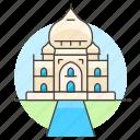 agra, architecture, india, landmarks, mahal, national, symbol, taj icon