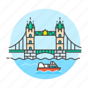 architecture, bridge, england, landmarks, london, national, symbol, tower icon
