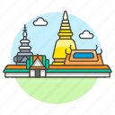 architecture, bangkok, kaew, landmarks, national, phra, symbol, temple, thailand, wat icon