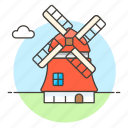 architecture, construction, landmarks, national, netherland, structure, symbol, windmills icon