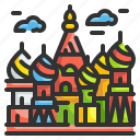 basil, cathedral, landmark, moscow, of, russia, saint